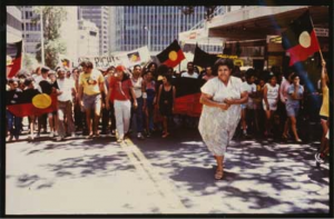 Mum Shirl, leading a protest marsh in the 1980s